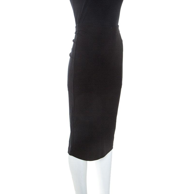 McQ by Alexander McQueen Black Stretch-Jersey Pencil Skirt