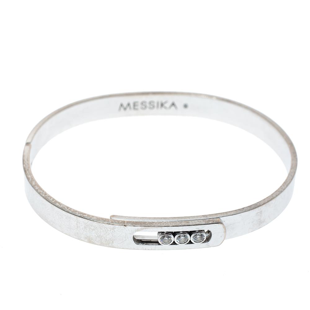 Messika Move Noa Diamond 18K White Gold Bracelet