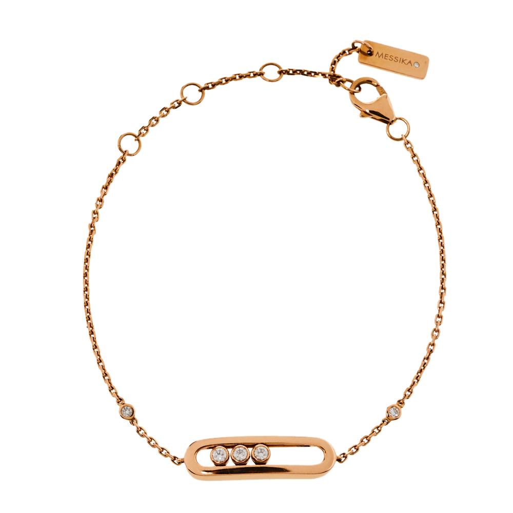 Pre-owned Messika Baby Move Diamond 18k Rose Gold Bracelet