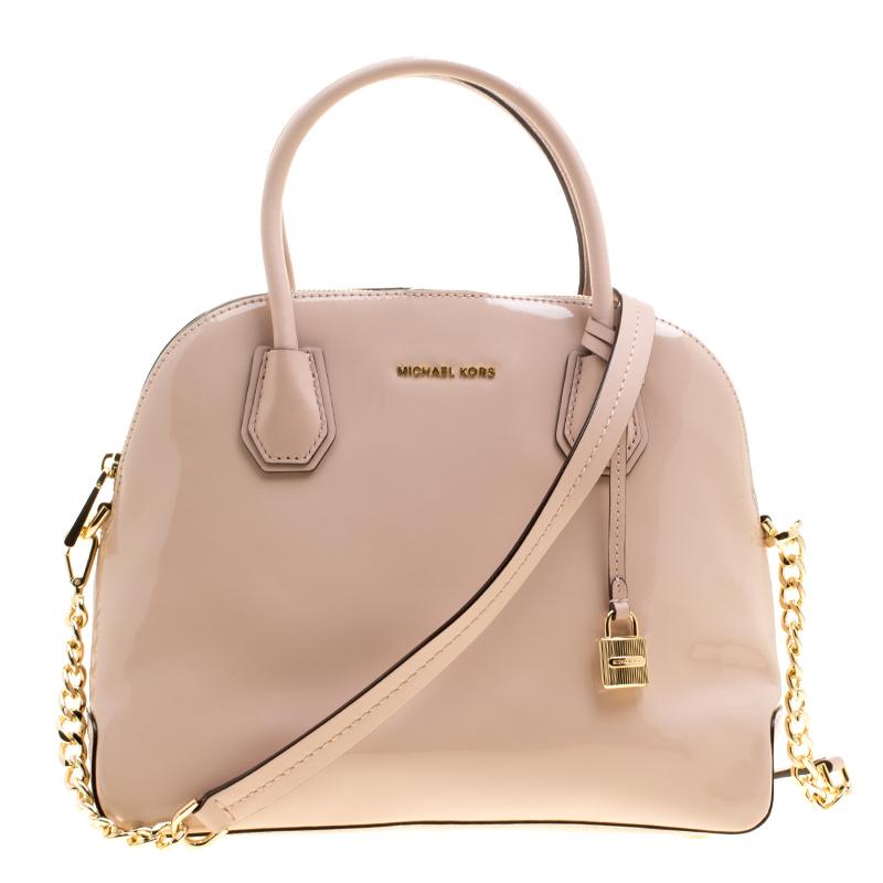 e686a30e138e ... Michael Kors Dusty Pink Patent leather Large Mercer Dome Satchel.  nextprev. prevnext