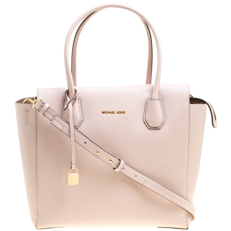 ... Michael Kors Soft Pink Leather Large Mercer Satchel. nextprev. prevnext 71ecfc450b2ae