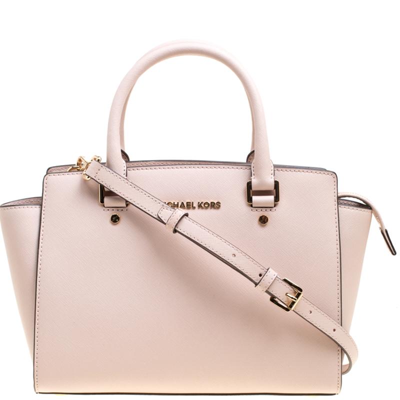 661c483e2 ... Michael Kors Blush Pink Leather Medium Selma Top Handle Satchel.  nextprev. prevnext