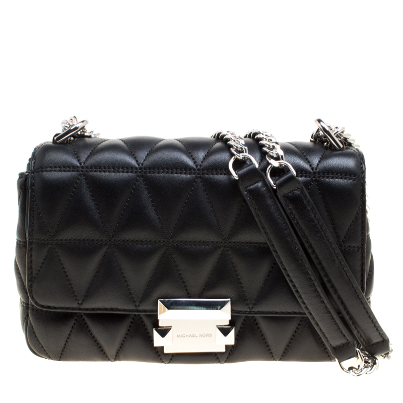 06567c3a666 ... Black Quilted Leather Small Sloan Studded Chain Shoulder Bag. nextprev.  prevnext