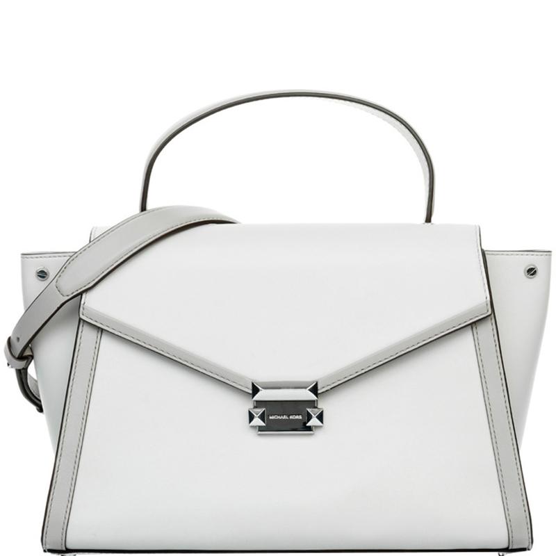 0b05c85aab ... Michael Kors Off White Leather Large Whitney Satchel Bag. nextprev.  prevnext