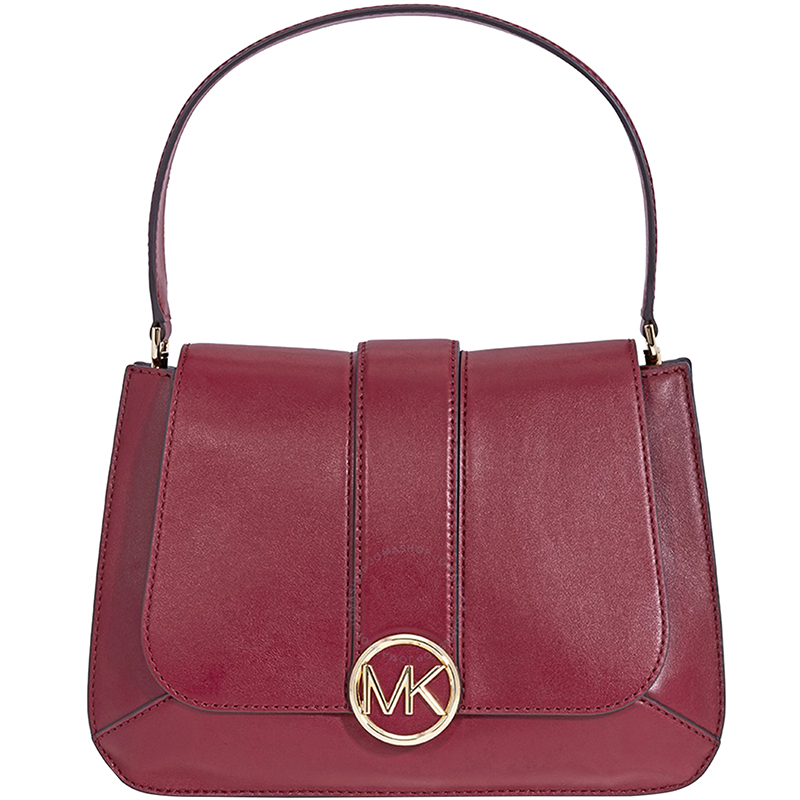 MICHAEL Michael Kors Dark Red Leather Medium Lillie Shoulder Bag. nextprev.  prevnext af189fd6d3f2f