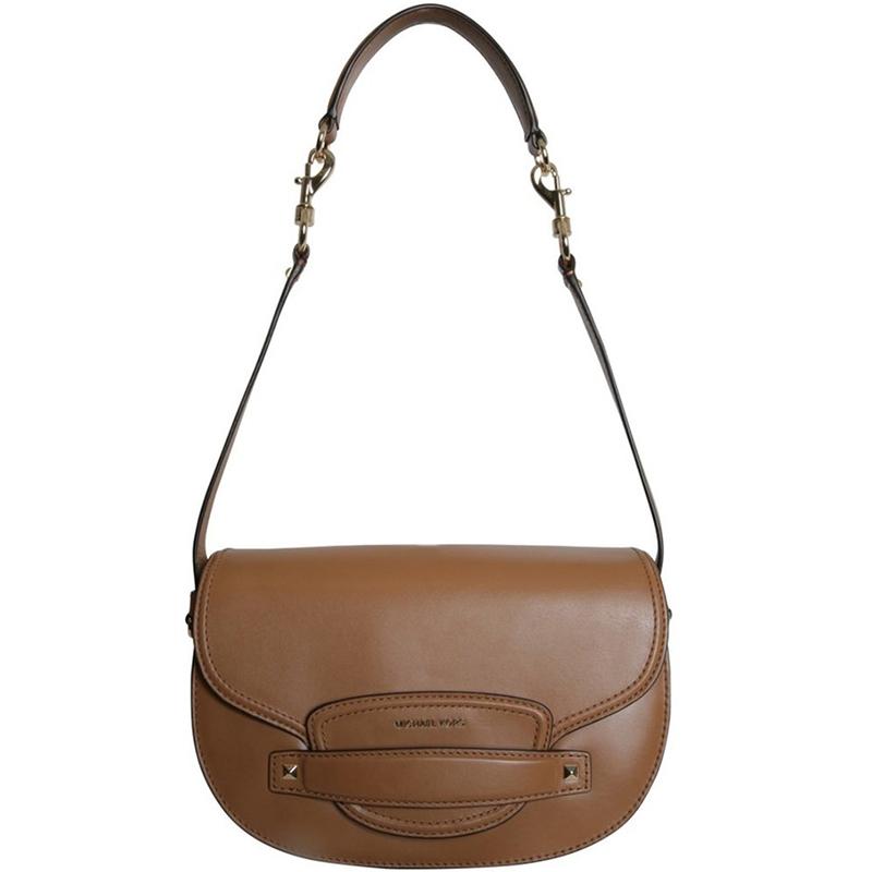 efce8209dc37 Michael Michael Kors Brown Leather Medium Cary Saddle Crossbody Bag.  nextprev. prevnext
