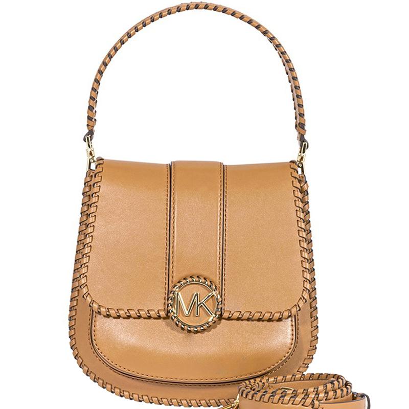 22a48fde65ec Michael Kors Brown Leather Lillie Top Handle Shoulder. Affordable Michael  Kors Bags