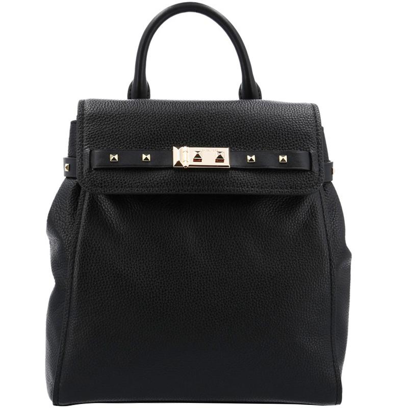 7c1651d8082d ... Michael Kors Black Pebbled Leather Medium Addison Backpack. nextprev.  prevnext