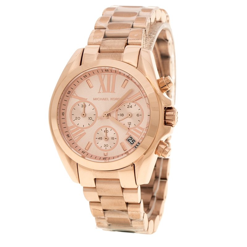 6715e689b895 ... Rose Gold Plated Steel Bradshaw Chronograph MK5799 Women s Wristwatch  37 mm. nextprev. prevnext