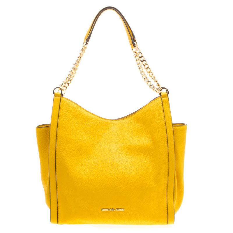 98005290e5ccc2 ... Michael Kors Yellow Leather Newbury Chain Tote. nextprev. prevnext