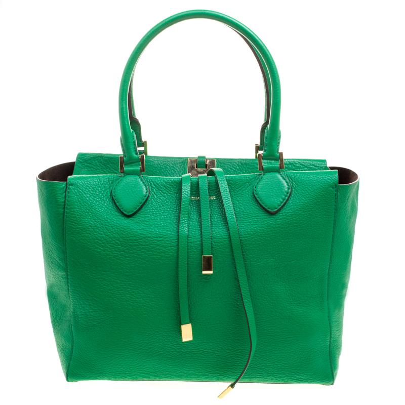 967e9884ccef29 ... Michael Kors Green Soft Leather Miranda Tote. nextprev. prevnext