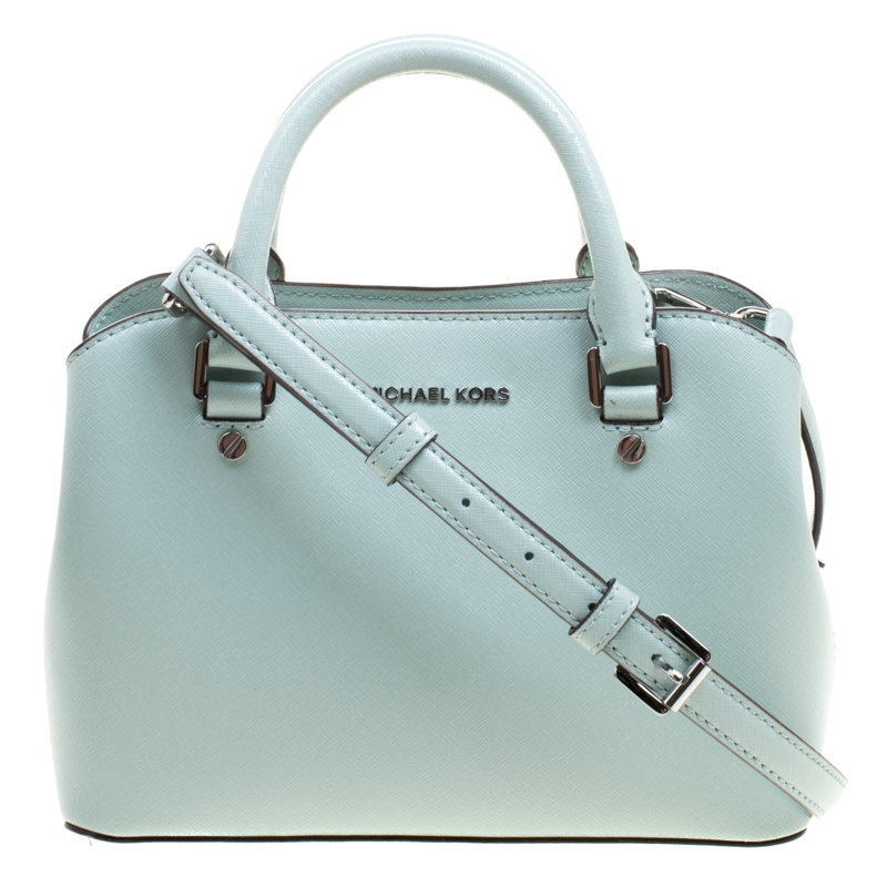 f9087e7626bb Buy Michael Kors Mint Leather Savannah Crossbody Bag 115139 at best ...