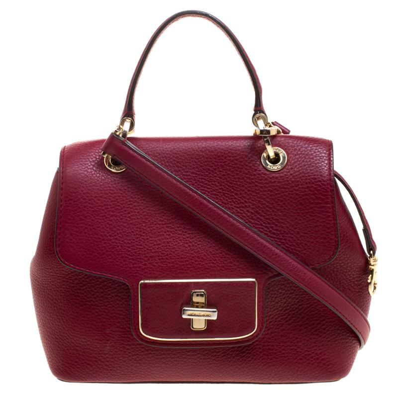 afe2bbed1820 ... Michael Kors Red Leather Turn Lock Crossbody Bag. nextprev. prevnext
