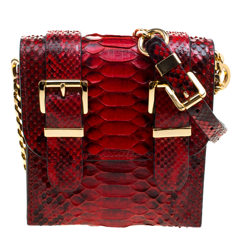83cc303aff33 Buy Michael Kors Red Python Crossbody Bag 118728 at best price | TLC