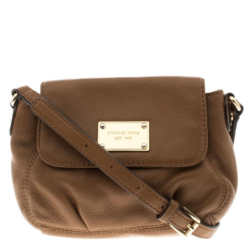 9e5c54d5a Buy Michael Kors Brown Leather Crossbody Bag 119102 at best price | TLC
