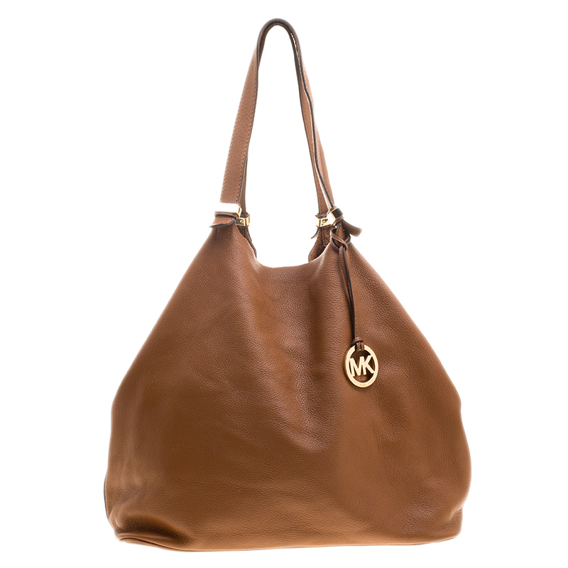 dc3f831eb9eac Buy Michael Kors Cognac Leather Shopper Tote 134377 at best price
