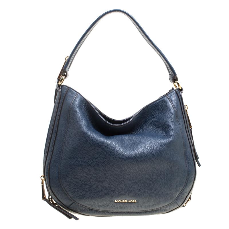 d4c79d7e661152 ... Michael Kors Navy Blue Leather New Medium Julia Hobo. nextprev. prevnext