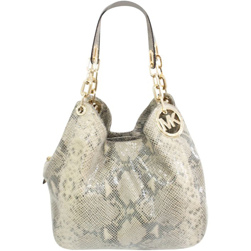 08324d1ccdcd Buy Michael Kors Snake Skin Leather Hobo Bag 188636 at best price | TLC