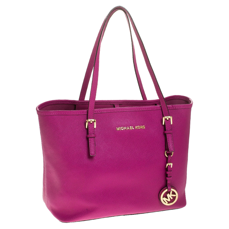 Michael Kors Hot Pink Saffiano Leather