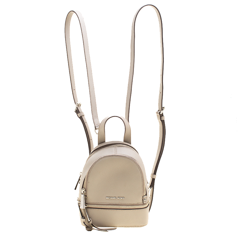 87ac2fe337026f ... Michael Kors Grey Leather Rhea Mini Backpack. nextprev. prevnext
