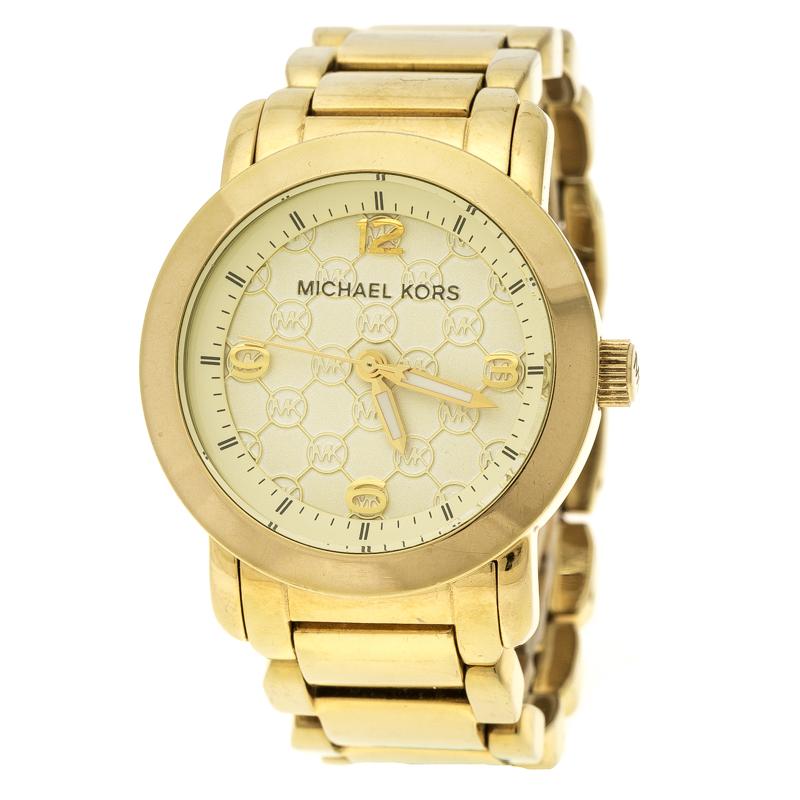 b56c26224b057e Buy Michael Kors Gold Plated Stainless Steel MK3158 Women's ...