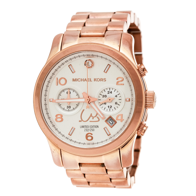 94bfd9dec3a0 Buy Michael Kors Silver White Dial Rose Gold Limited Edition Dubai ...