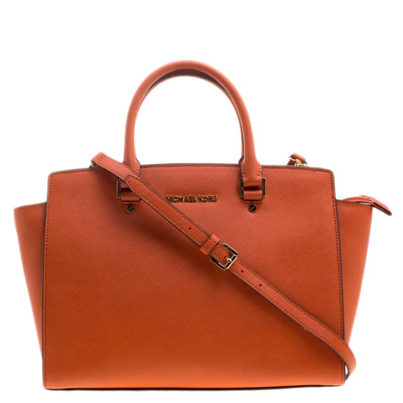 718cbbf3102b ... Michael Michael Kors Orange Saffiano Leather Medium Selma Tote.  nextprev. prevnext