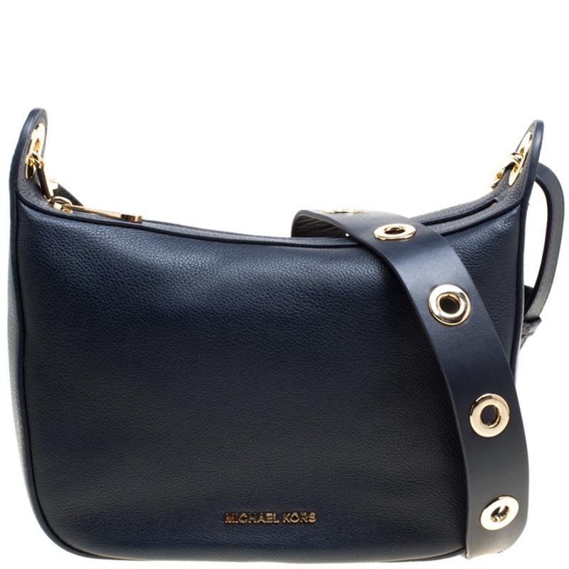 ... Michael Michael Kors Navy Blue Leather Medium Raven Messenger Bag.  nextprev. prevnext 40bb836d501b0