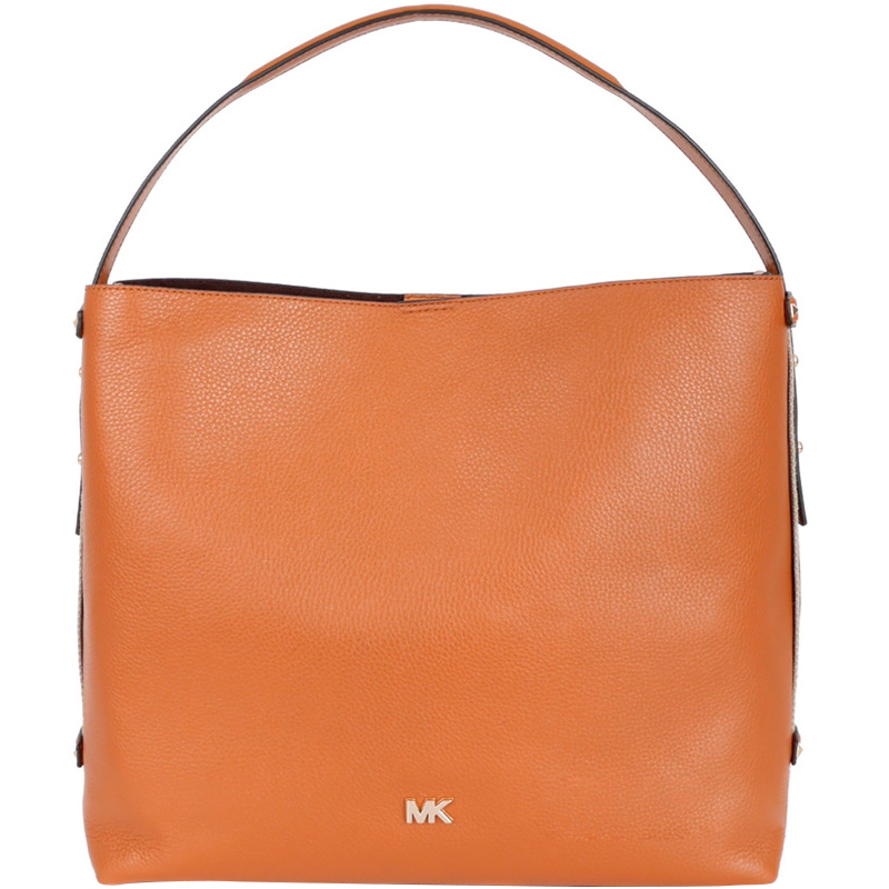d89db6ed6d6e Michael Michael Kors Brown Leather Large Griffin Shoulder Bag. nextprev.  prevnext