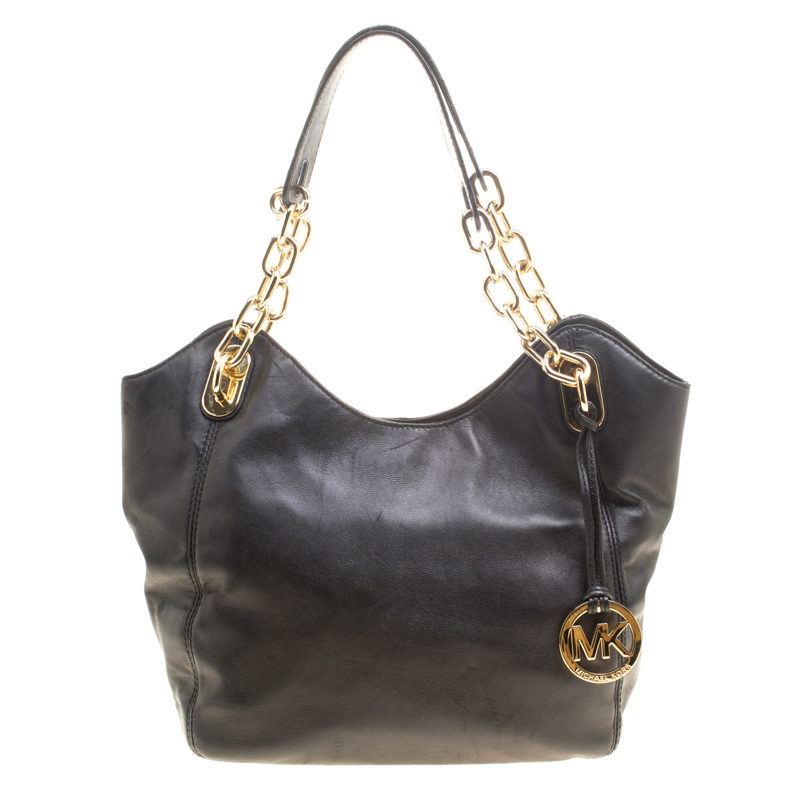 0d1ffabaaf7cfc ... MICHAEL Michael Kors Black Leather Shoulder Bag. nextprev. prevnext