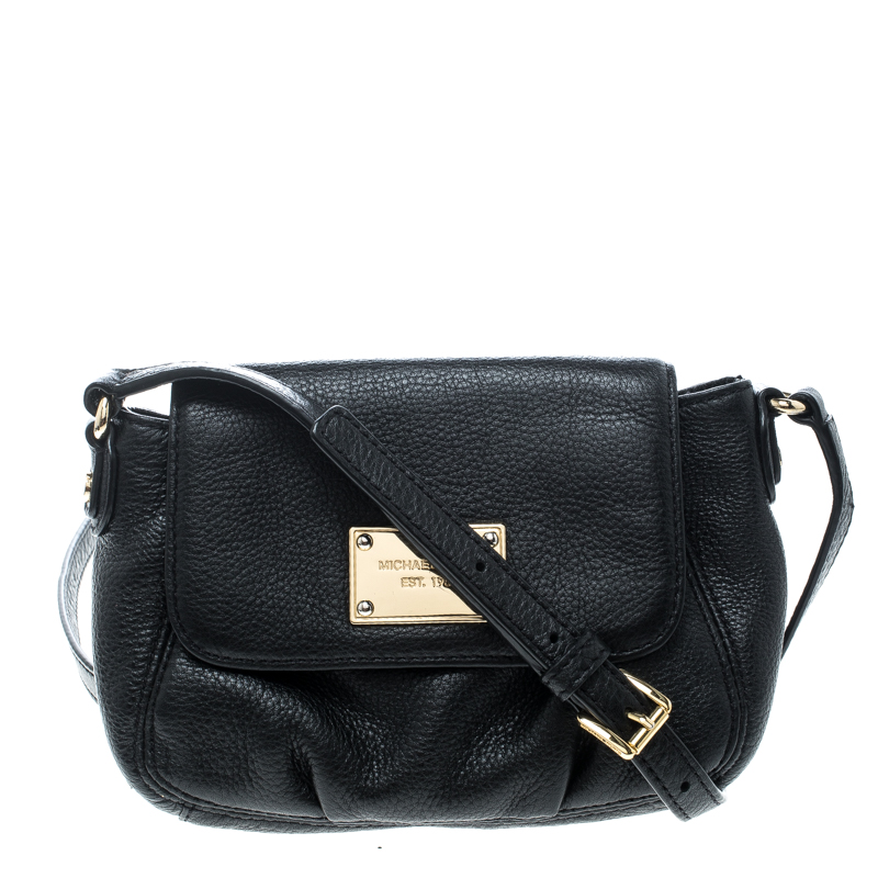 17cd458332f35 Michael Kors Black Leather Crossbody Purse - Best Purse Image Ccdbb.Org