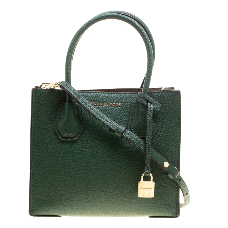 f400959f8776f3 Buy Michael Kors Green Leather Mercer Tote 146013 at best price | TLC