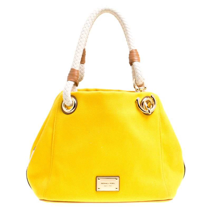 9e12d8670ffb Michael Kors Yellow Canvas Anchor Tote
