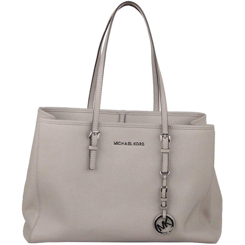 1d5584650180 ... Michael Michael Kors Grey Saffiano Leather Jet Set Travel Tote.  nextprev. prevnext