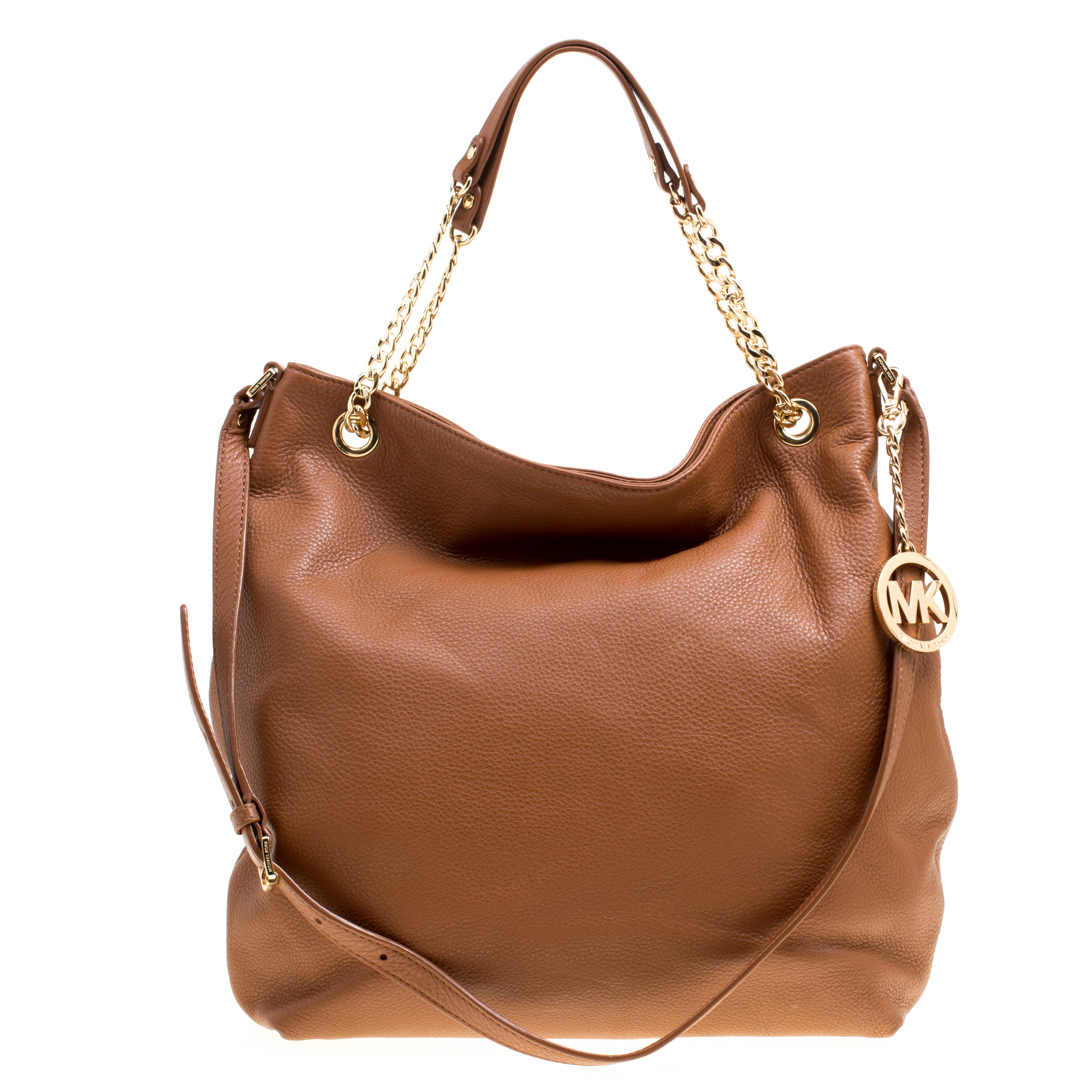 d178a8e51d6c Buy Michael Kors Brown Leather Jet Set Chain Hobo 161630 at best ...