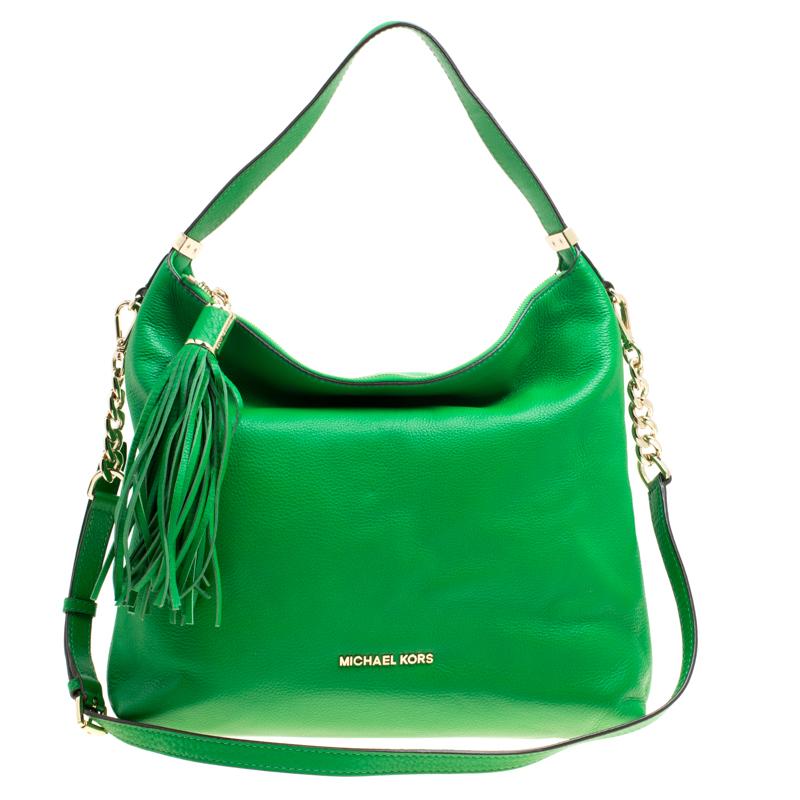 eb03f4828a1f ... Michael Michael Kors Green Leather Medium Weston Shoulder Bag.  nextprev. prevnext