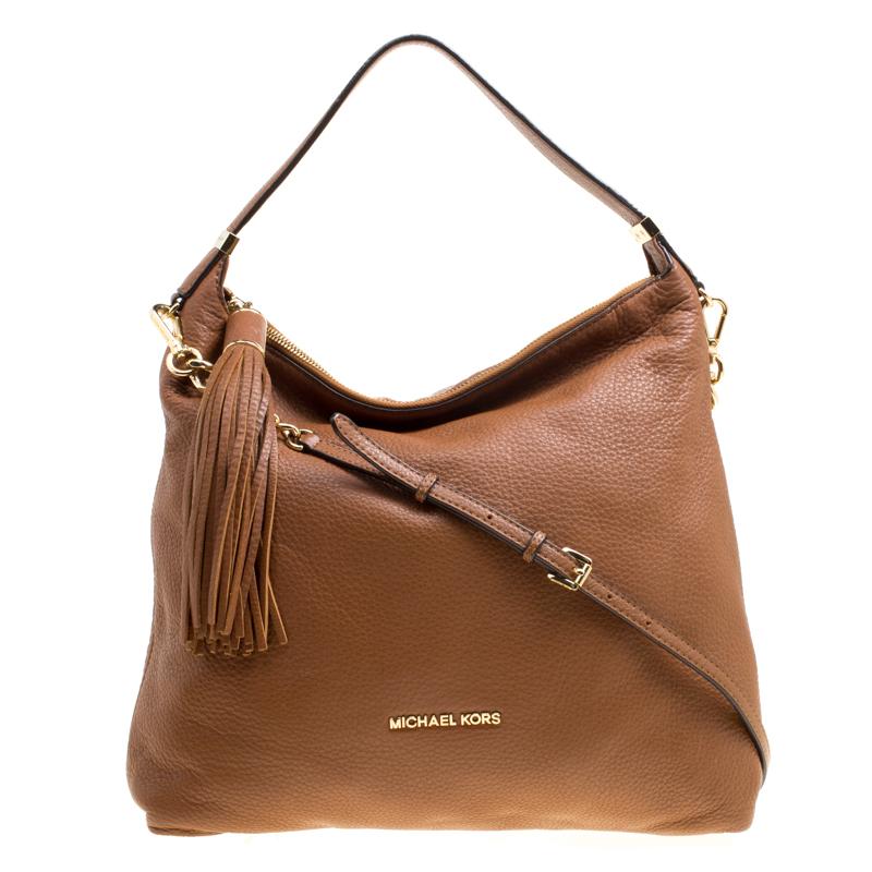 a77cd6e9e Michael Michael Kors Brown Leather Bedford Tassel Shoulder Bag