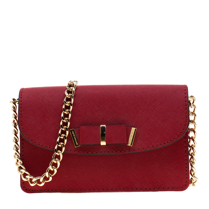 258a6ef1c077 ... Michael Michael Kors Red Saffiano Leather Kiera Crossbody Bag.  nextprev. prevnext