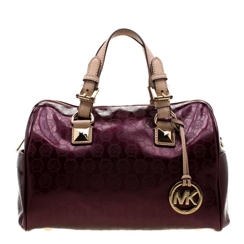 Purple Patent Leather Grayson Satchel