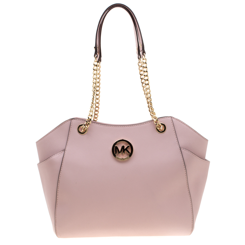 clearance prices attractive colour get new Michael Michael Kors Blush Pink Leather Jet Set Travel Chain Shoulder Bag