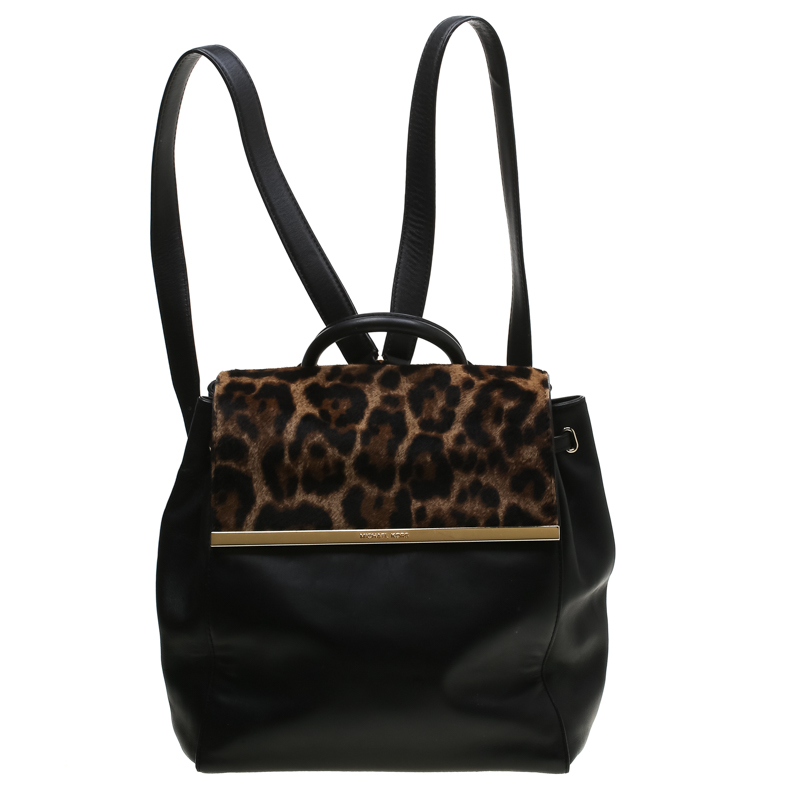 7415f227210a ... MICHAEL Michael Kors Leopard Print Calfhair and Leather Lana Backpack.  nextprev. prevnext