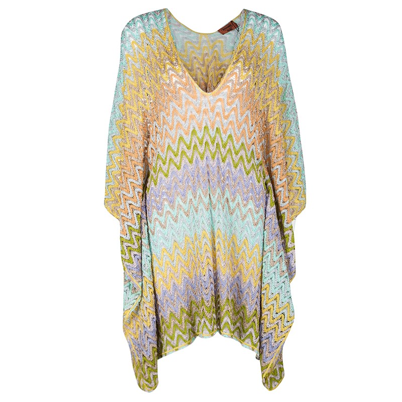 7c43d37be5b76 Buy Missoni Mare Multicolor Chevron Pattern Perforated Lurex Knit ...