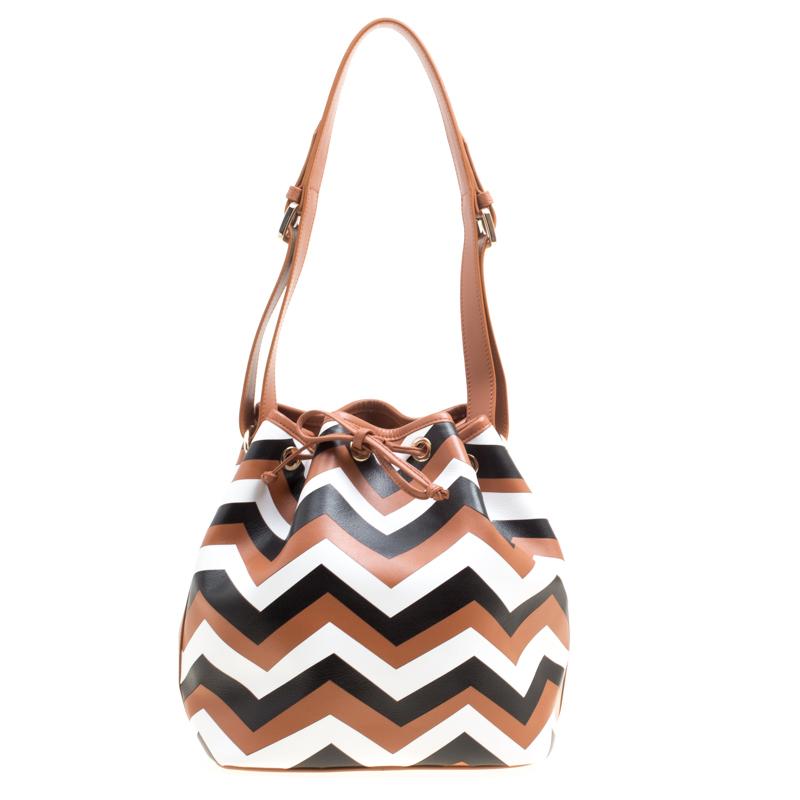 c5dc013f2317a Buy Missoni Brown/Multicolor Printed Bucket Bag 158485 at best price ...