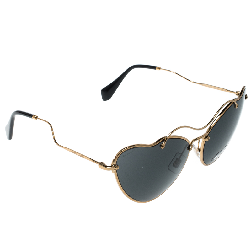 5a11e0b1b100 Buy Miu Miu Gold Black SMU55R Butterfly Sunglasses 151890 at best ...