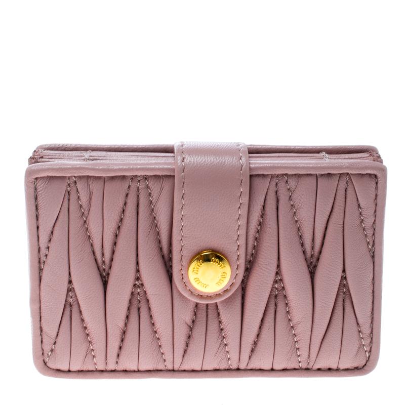 ... Miu Miu Blush Pink Matelasse Leather Card Holder. nextprev. prevnext 0f6c85d1eb033