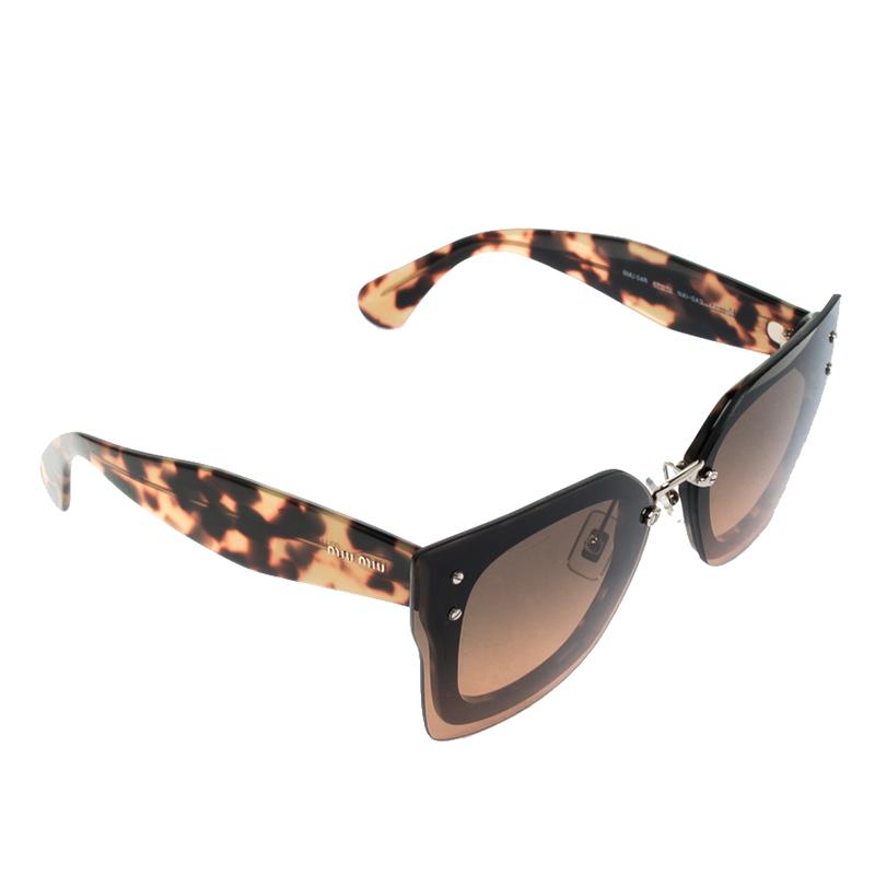 e427e401f09 ... Miu Miu Brown Tortoise SMU 04R Butterfly Sunglasses. nextprev. prevnext