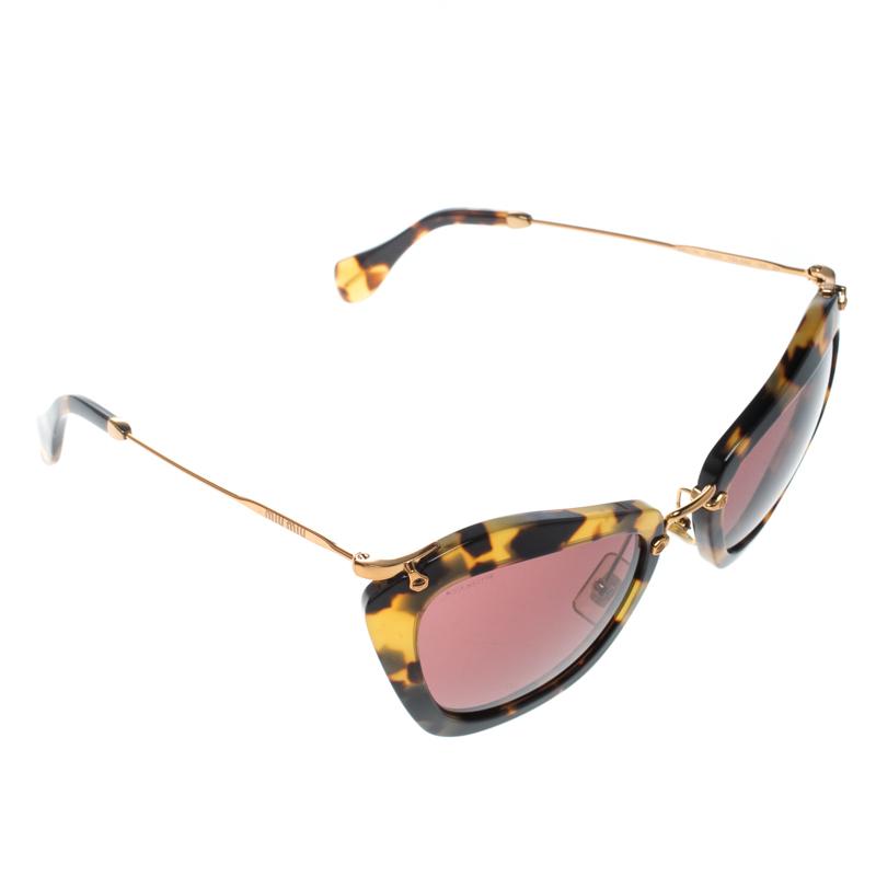 dc2b69ff0e48 ... Miu Miu Tortoise Pink SMU10N Cat Eye Sunglasses. nextprev. prevnext