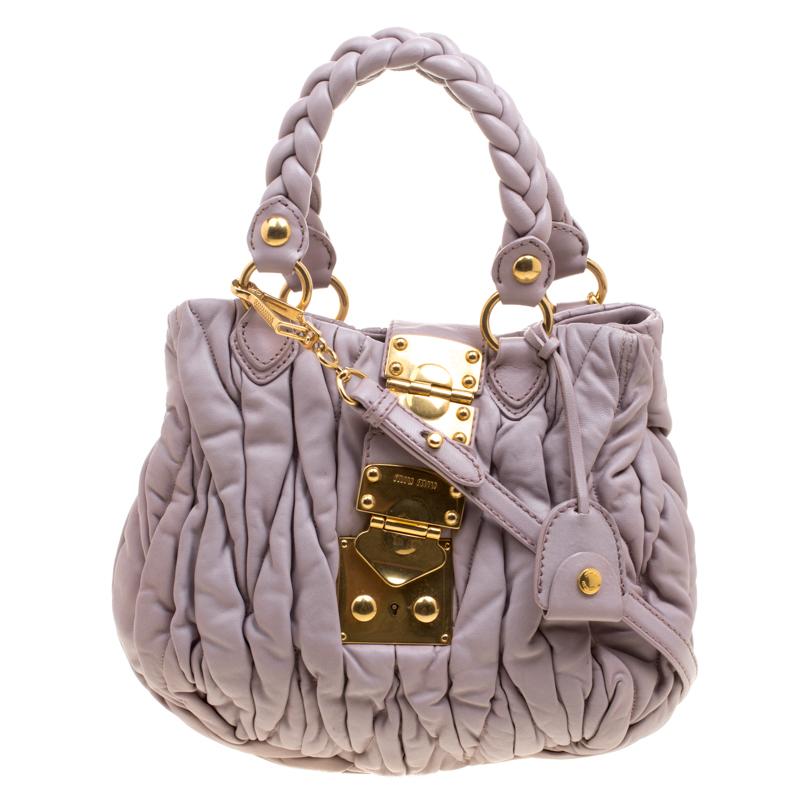 1874b99278d4 ... Miu Miu Lilac Matelasse Leather Shoulder Bag. nextprev. prevnext