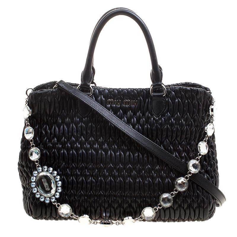 ... Miu Miu Black Matelasse Nappa Leather Crystal Tote. nextprev. prevnext 303c096d5ba44