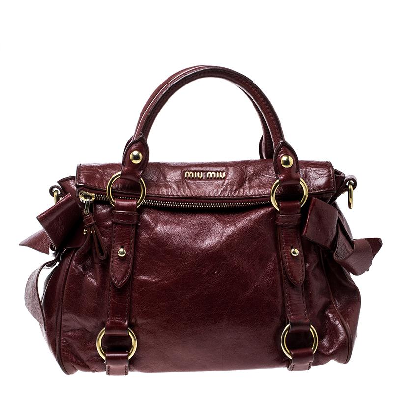 ... Miu Miu Red Vitello Lux Leather Bow Top Handle Bag. nextprev. prevnext bad0780f5d4ab